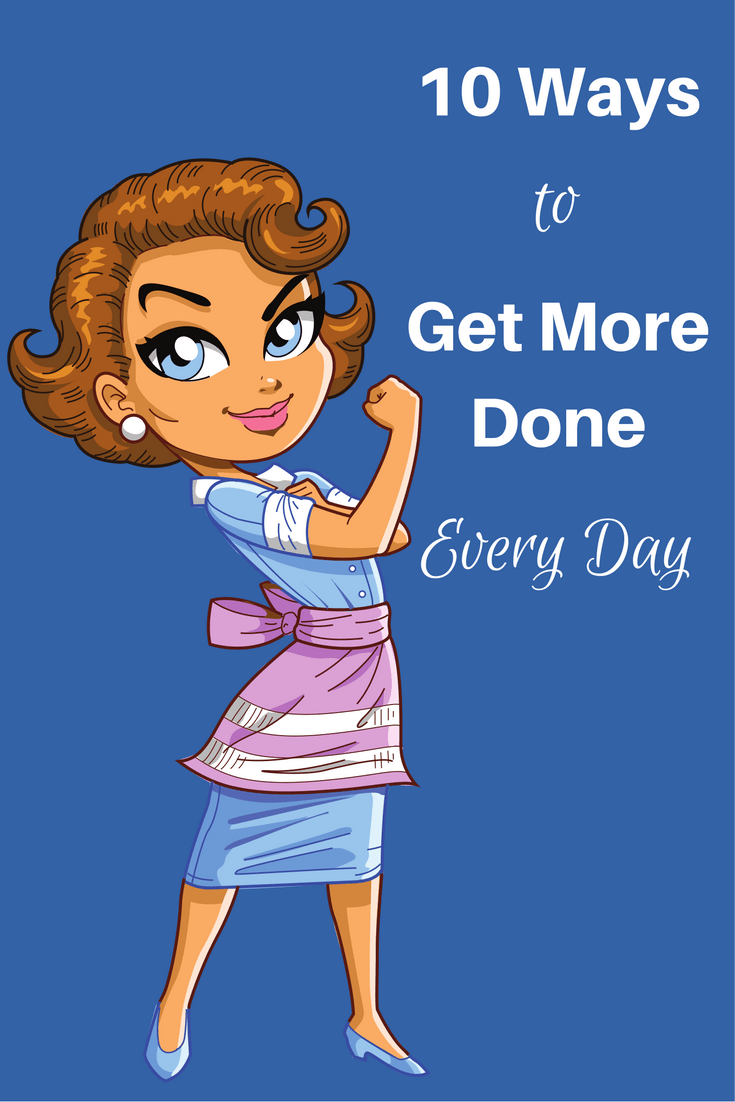 Busy moms have a lot to do and never enough time to do it all. Here are 10 easy ways to get more done every day that you can start using right now. #busymoms #getmoredone #productiveday #productivemorning via @wondermomwannab