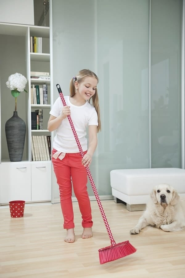 Give your kids one chore to accomplish each day to help keep the house clean