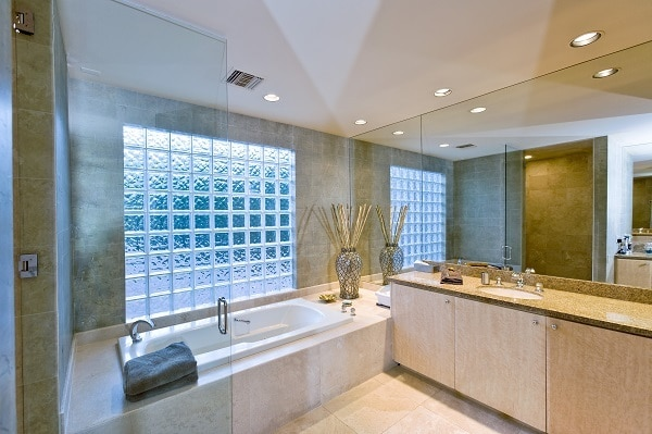 a clean and shiny bathroom