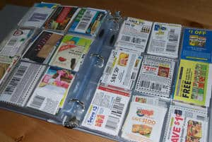 binder full of coupons