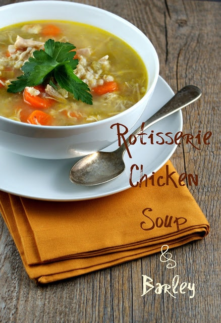 Chicken and Barley Soup from the Authentic Suburban Gourmet
