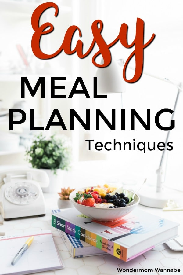Lots of good ideas for meal planning to make it faster and easier each week. #mealplanning #dinnerideas