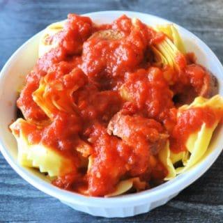 Tortellini with Mezzetta Sauce