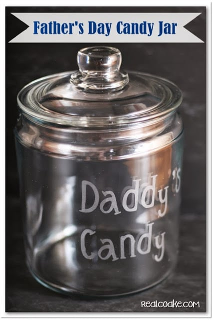 Father's Day Candy Jar