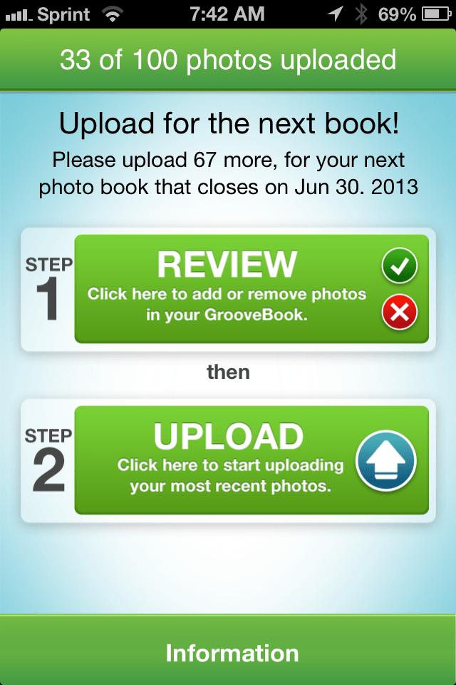 GrooveBook Screen 1