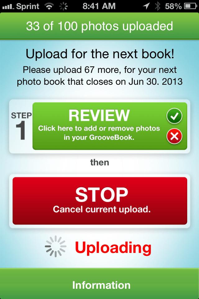 GrooveBook Upload