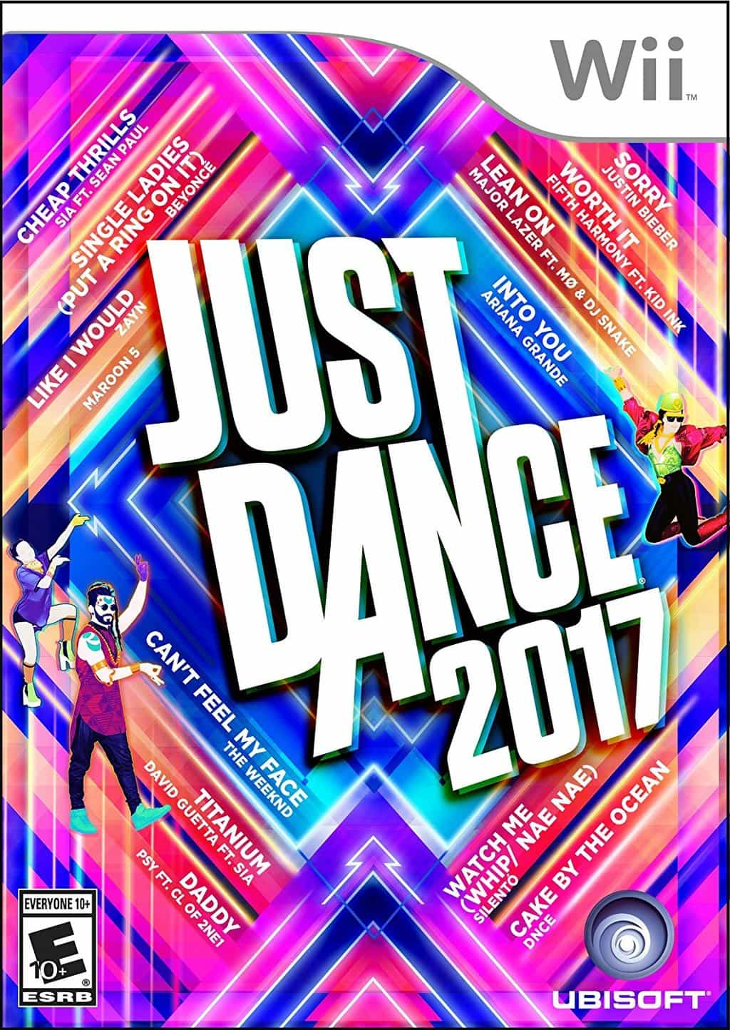 the cover of Just Dance 2017 for the Wii