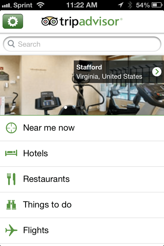Trip Advisor screenshot