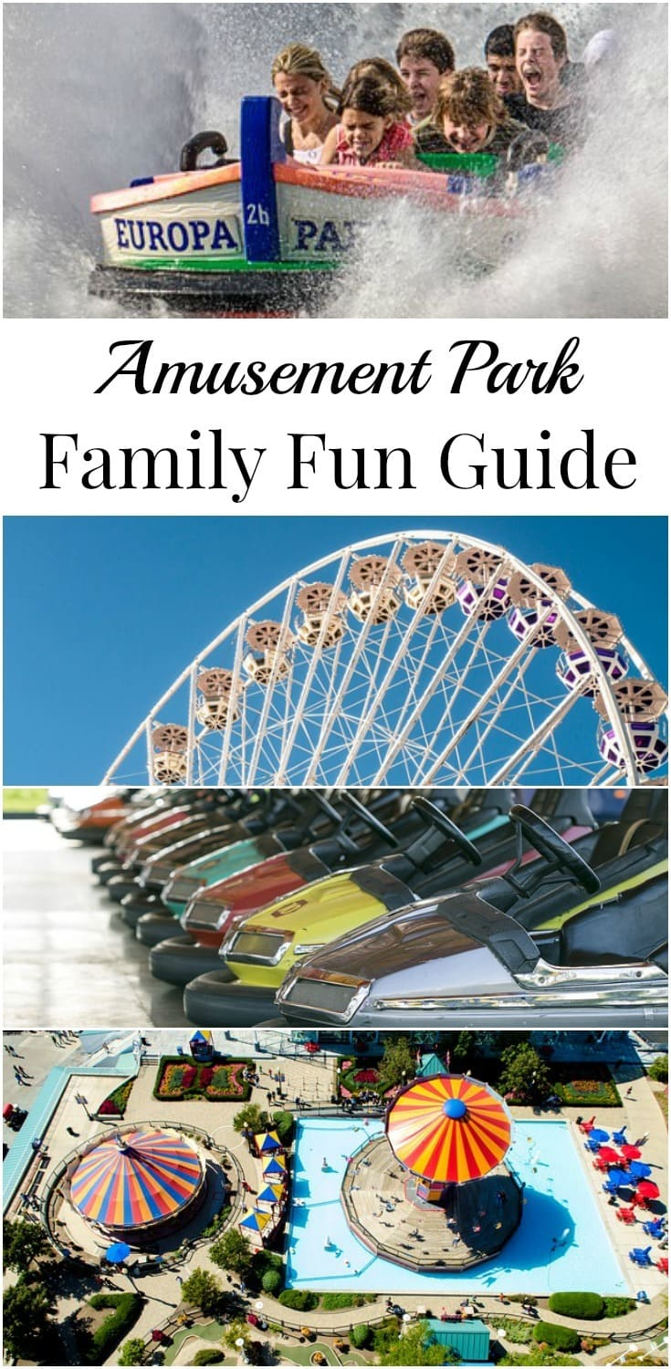 Summer break is a great opportunity to do fun things together as a family. This amusement park family fun guide will help you plan your day. #amusementpark #familyfun #freeprintable #summerfun via @wondermomwannab