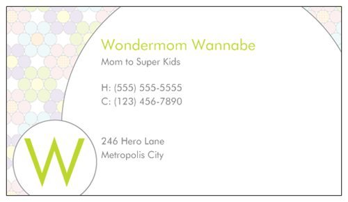 Why moms need business cards mommy cards mommy card 2 colourmoves