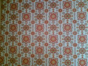 orange flowery wallpaper