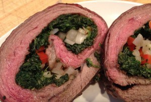Spinach Stuffed Flank Steak