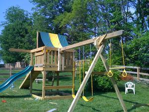 Backyard playground set