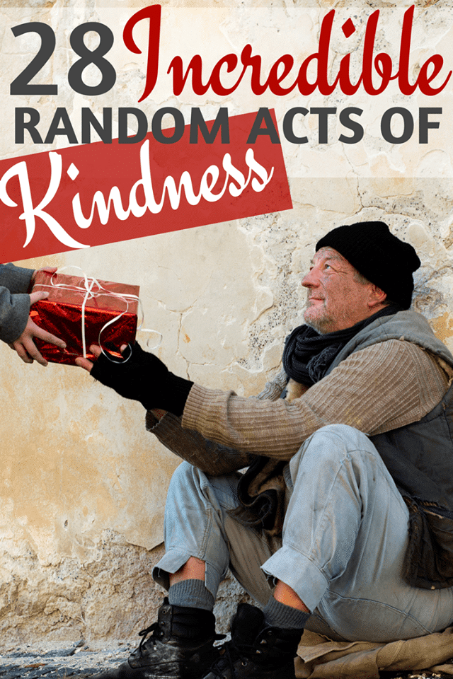 28 different random acts of kindness ideas in four different areas, plus additional ideas and resources for paying it forward. #kindness #randomactsofkindness #actsofkindness via @wondermomwannab