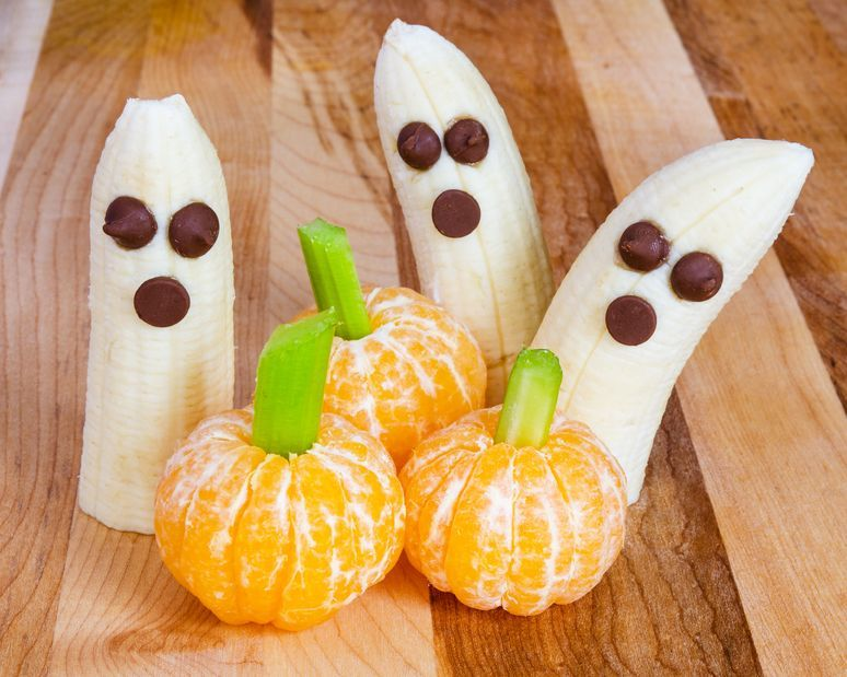 Banana Ghosts and Orange Pumpkins