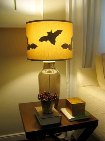Batty Lamp Silhouette