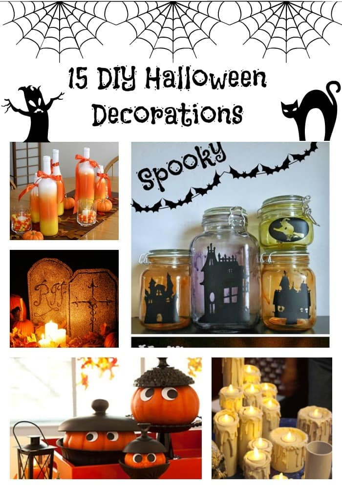 halloween decoration ideas diy raum und m beldesign. Black Bedroom Furniture Sets. Home Design Ideas