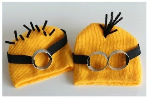 Minion Costume made out of beanies