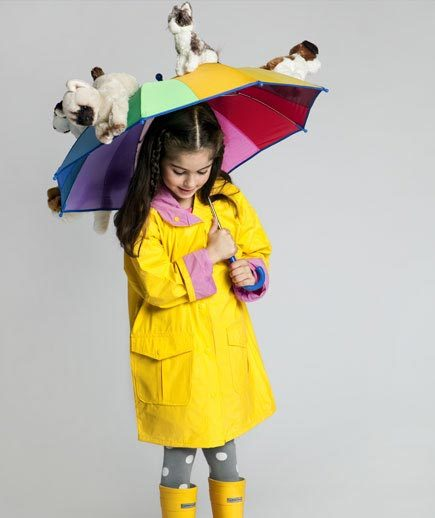 a girl in a Raining Cats and Dogs Costume