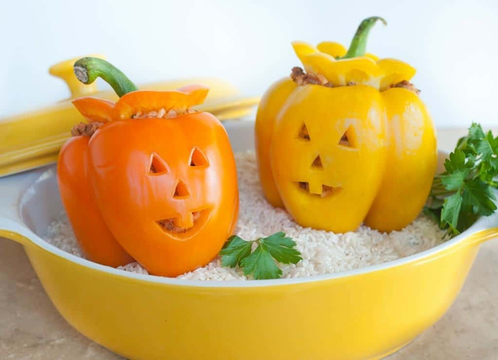 Stuffed JackOLantern Peppers
