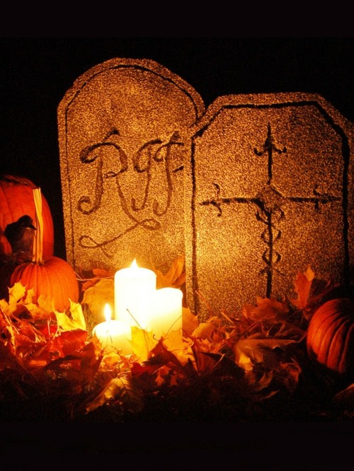 Tombstones for diy Halloween decor
