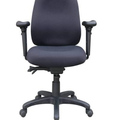 Dark blue and black desk chair