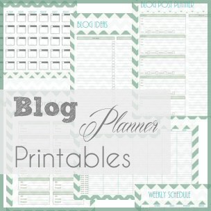 A Typical English Home Blog Planner