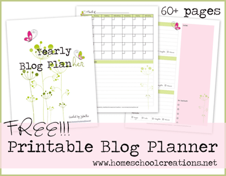 Home School Creations Blog Planner