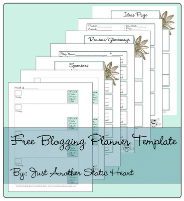 Just Another Static Heart Blog Planner