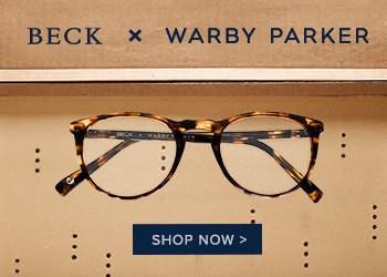 Beck x Warby Parker glasses