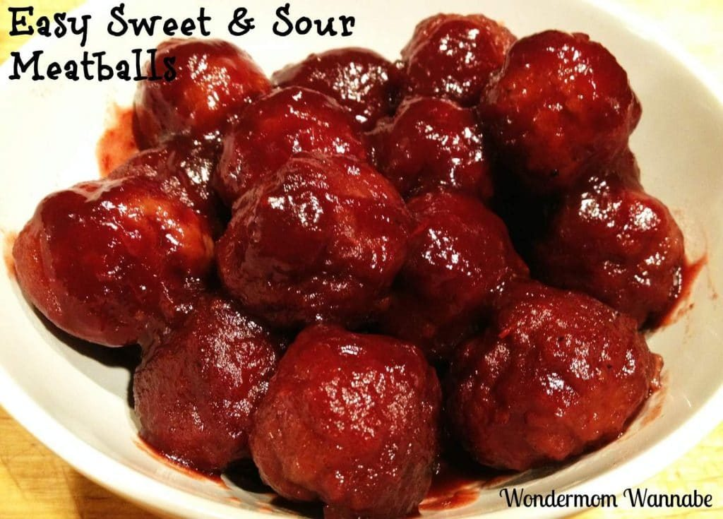 These Sweet Sour Meatballs are a super easy appetizer and very popular finger food at parties!