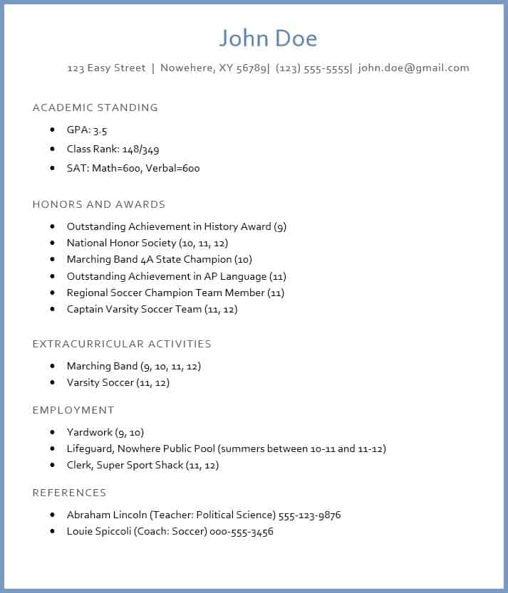 Click The Image Below To Get Access To The Template For The Sample College  Admission Résumé. When The New Tab Opens, Click The Download Icon In The  Upper ...  College Sophomore Resume