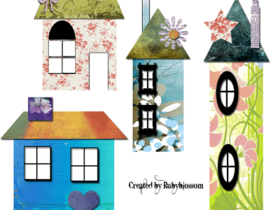 Colorful crafted houses