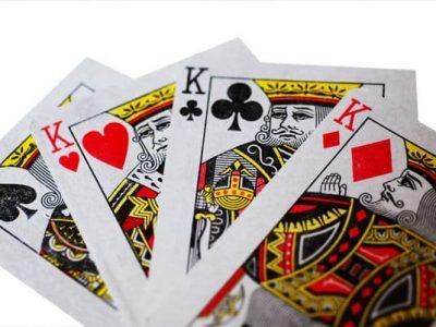 Fan of 4 king cards
