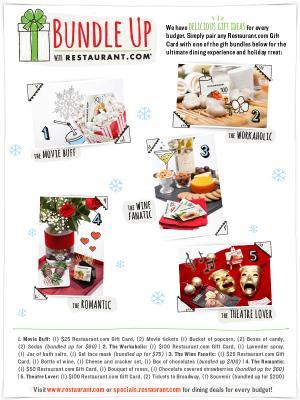 Holiday gift ideas using gift cards