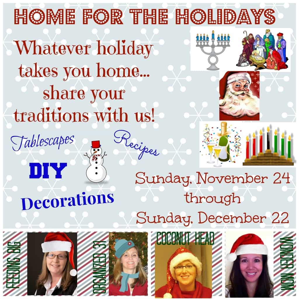 Home for the Holidays party button