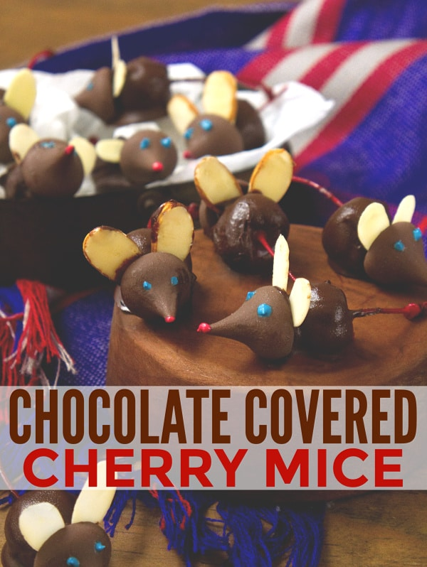 These chocolate covered cherry mice are adorable!! Such a fun dessert idea. #funfood #chocolate