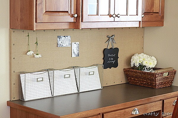 Custom Burlap Bulletin Board