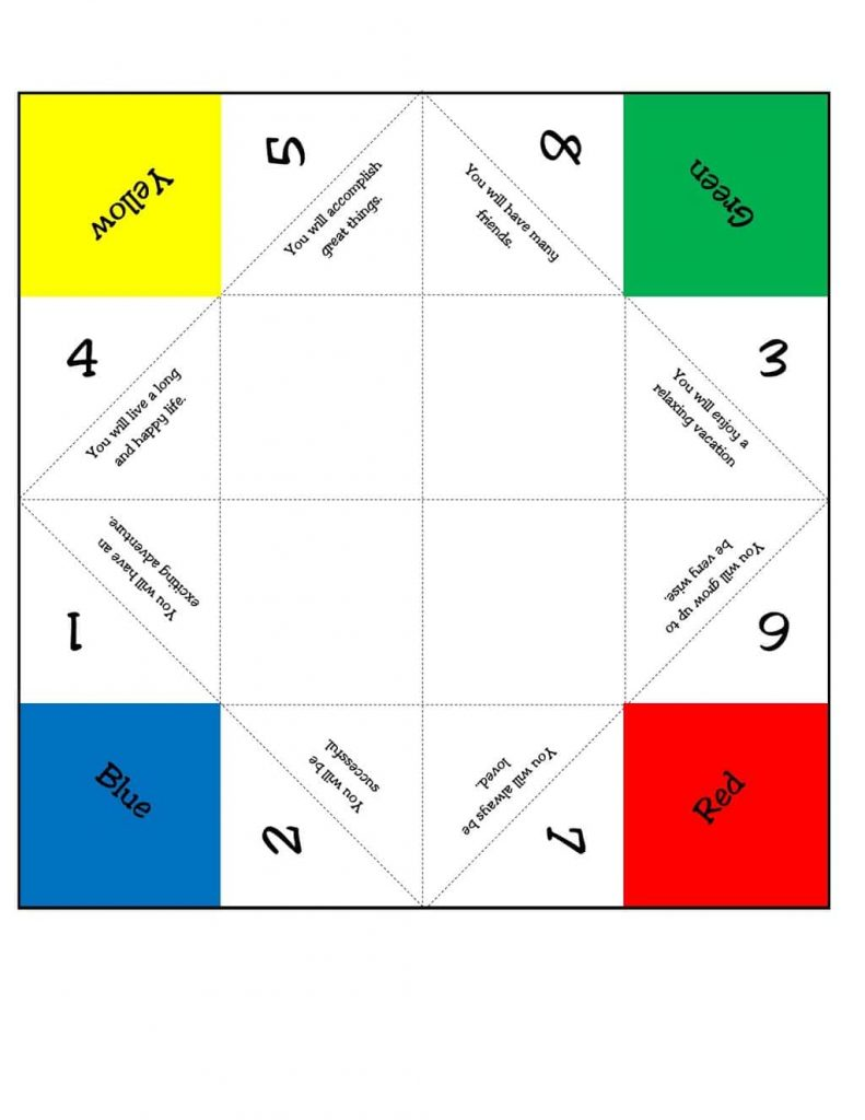 picture relating to Printable Fortune Teller identified as Printable Fortune Teller (with online video guideline!)