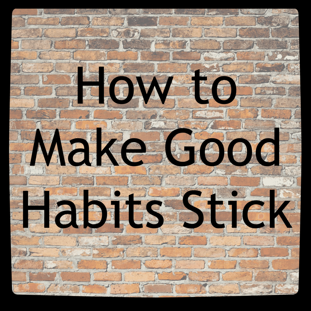 a brick background with title text reading How to Make Good Habits Stick