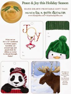 Hand Drawn Printable Gift Tags from Lisa M Griffin