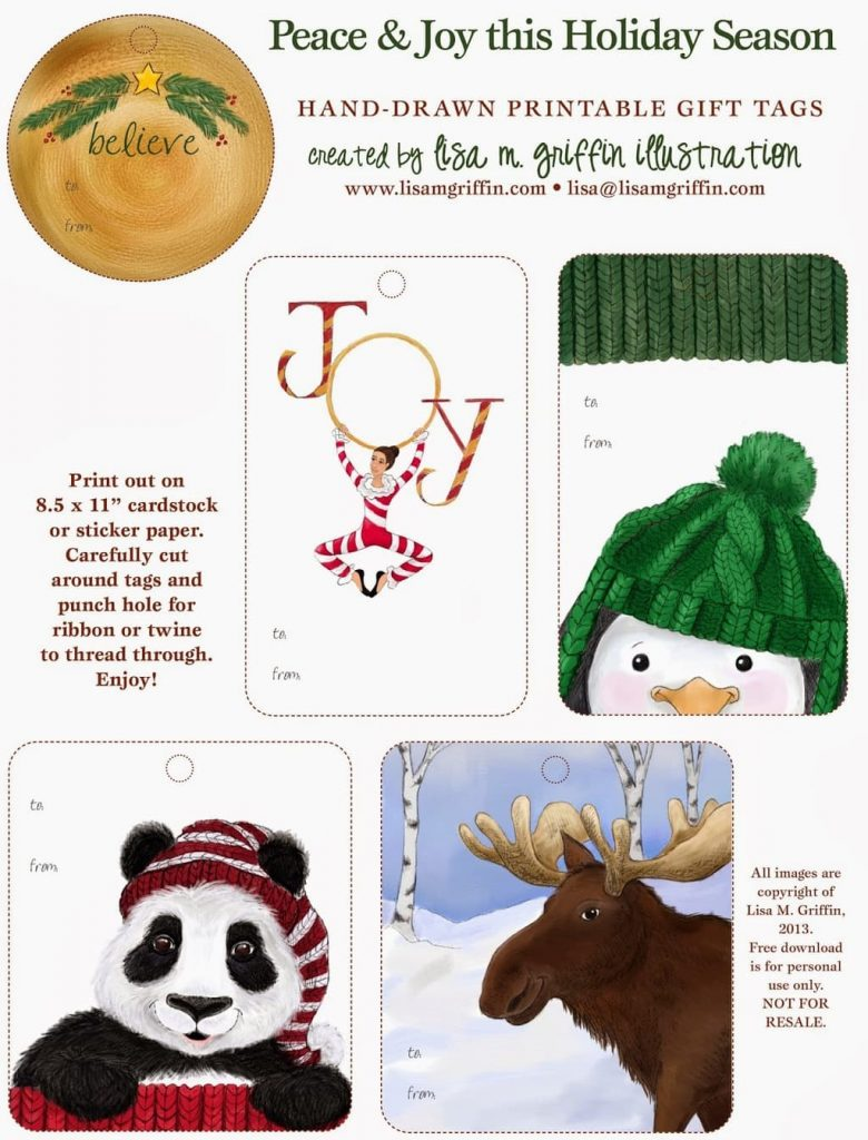 Lisa M Griffin Holiday Tags 2013