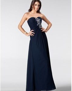 Woman in Sheath Sweetheart Chiffon Prom Dress