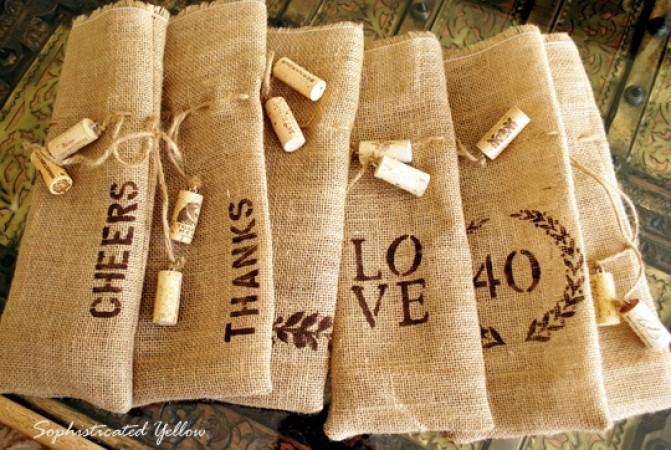 burlap wine bags as a diy burlap project you can make