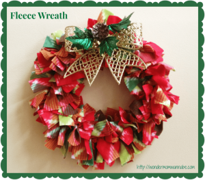Easy, DIY Fleece Wreath For Under $5