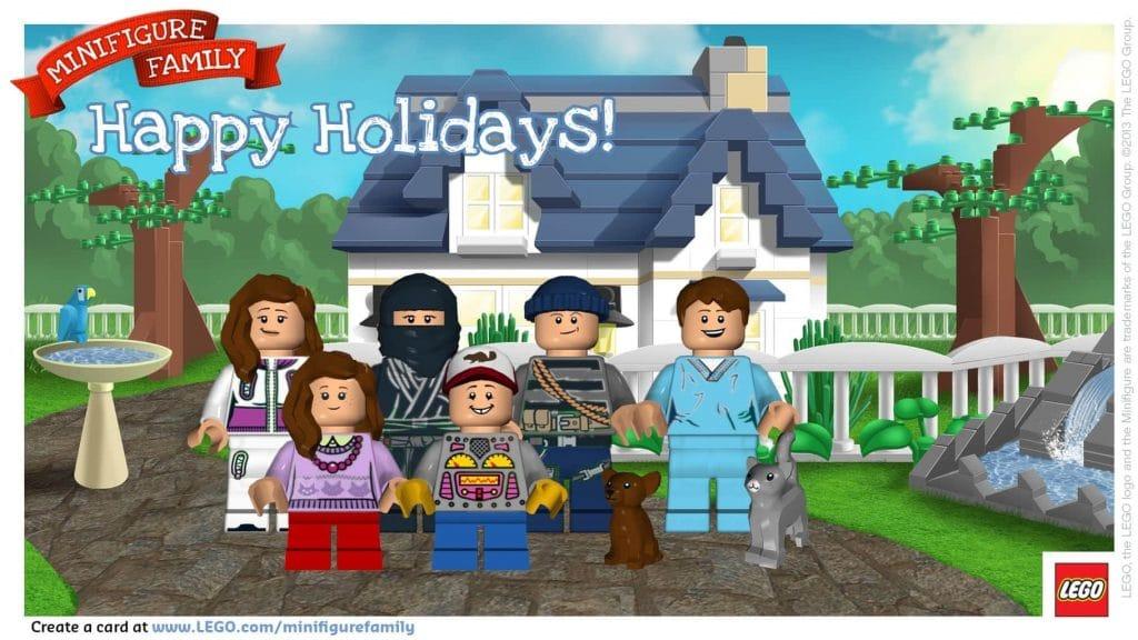 LEGO Minifigure Family Holiday Card