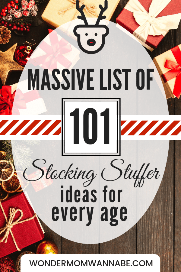 Looking for stocking stuffer ideas? I have over 100 of them with suggestions for everyone in your family from toddlers to mom and dad! #christmas #giftideas #stockingstuffers via @wondermomwannab