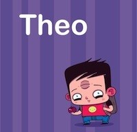 Cartoon boy named Theo
