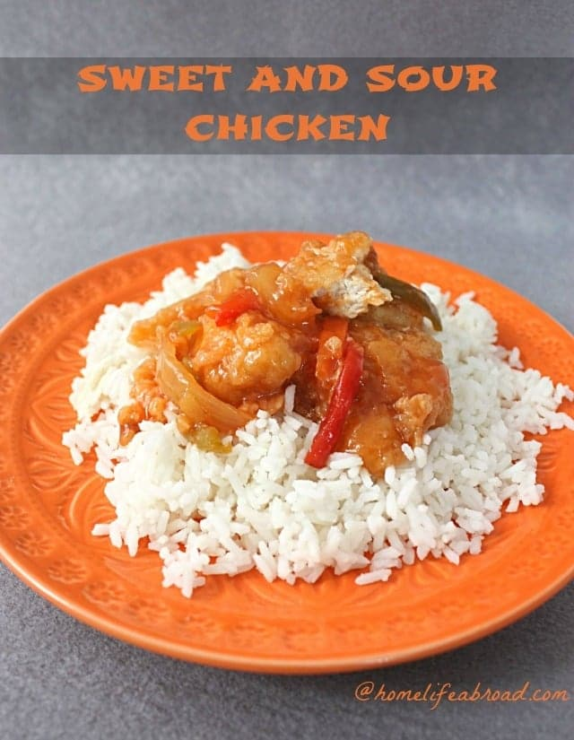 Sweet and Sour Chicken from Home Life Abroad