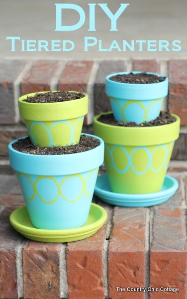 DIY Tiered Planters from The Country Chic Cottage
